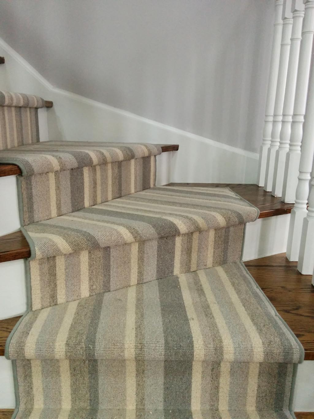 Striped Stair Carpet Runners