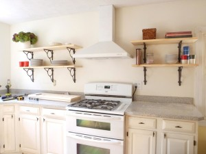 Wall Mounted Kitchen Shelves