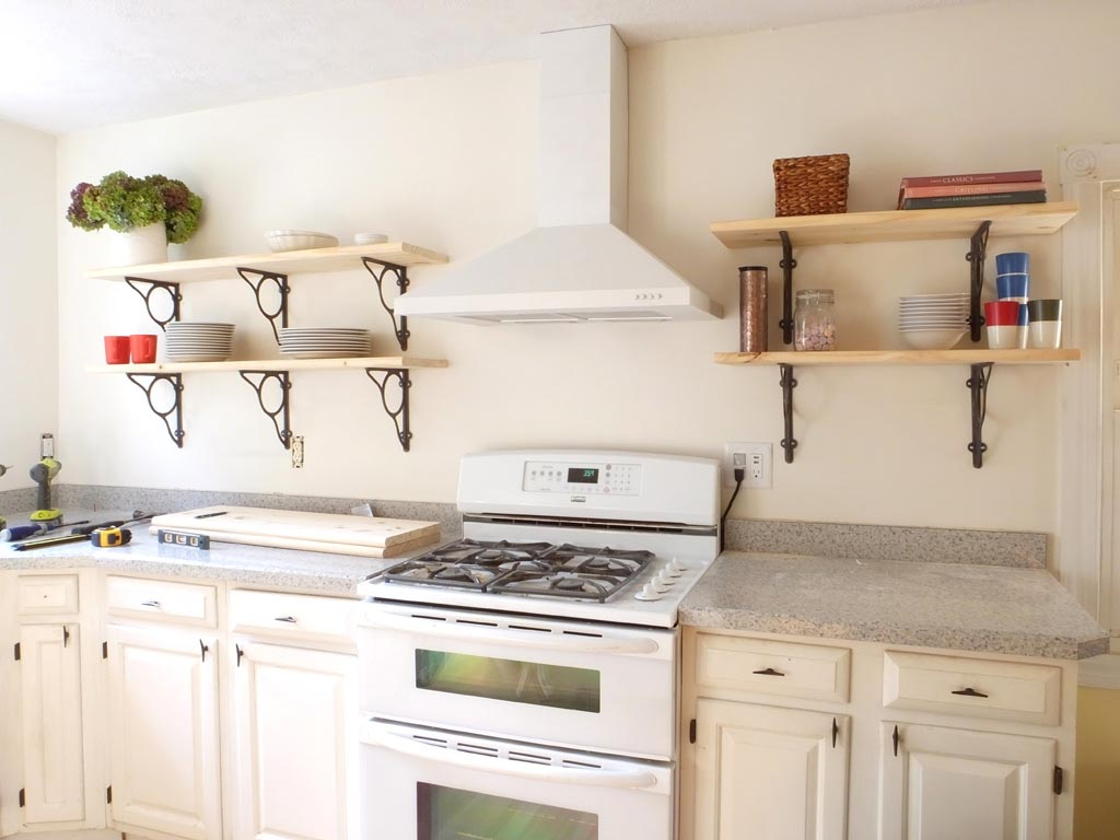 Keep Everything At Hand With Kitchen Wall Shelves Best