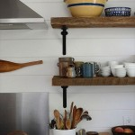 Wooden Kitchen Wall Shelves