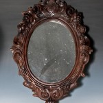 Antique Wood Framed Mirrors