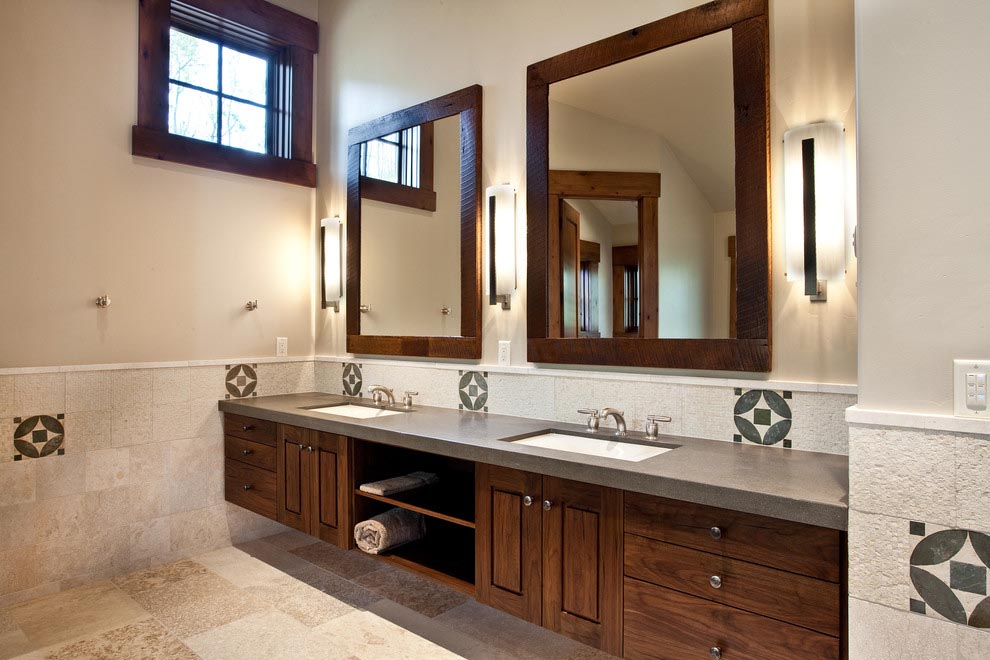 the best rectangular bathroom mirrors framed and frameless carving wood framed bathroom mirror