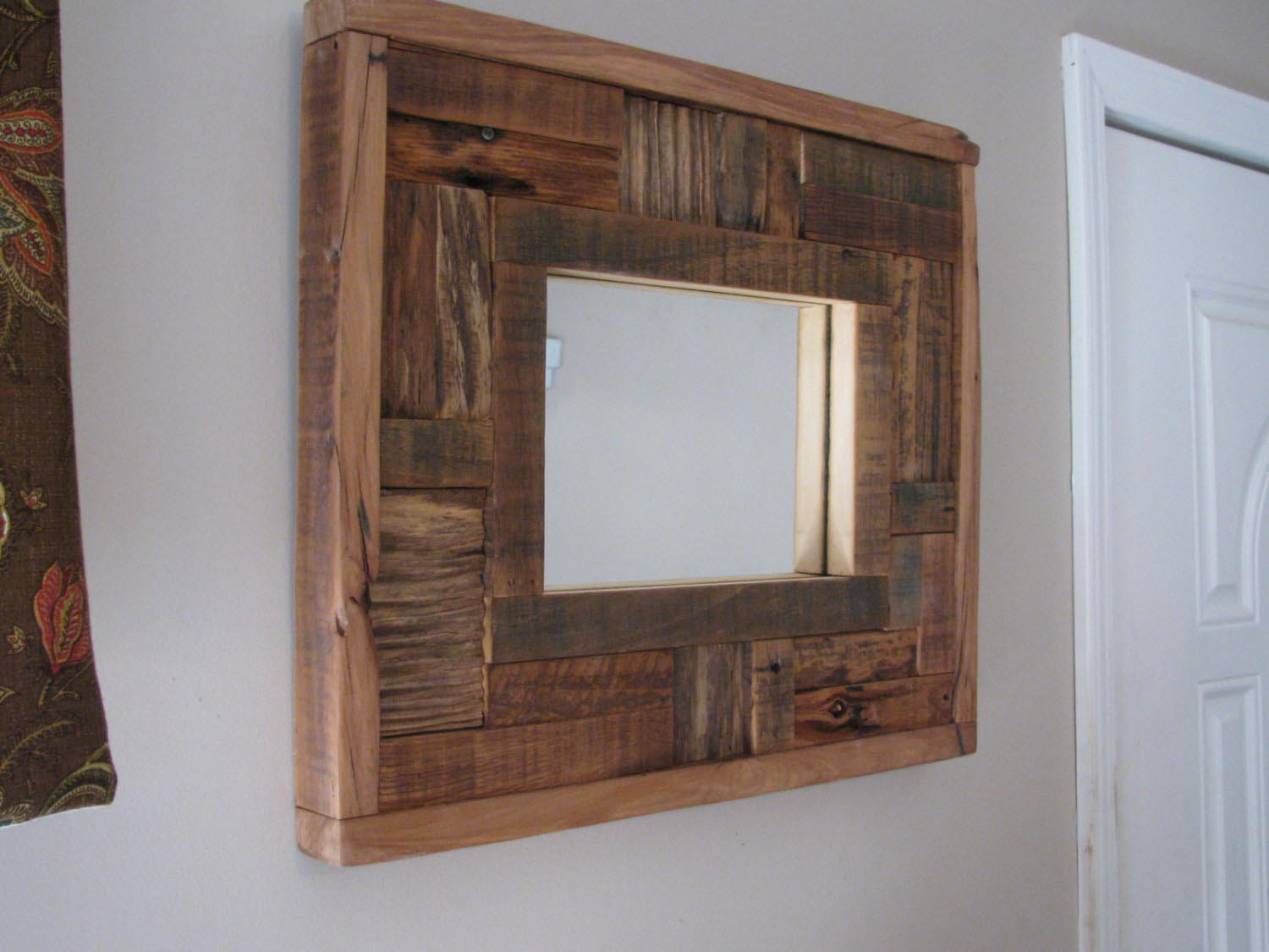 Beech wood framed mirrors best decor things for Wood framed mirrors