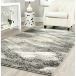 Black and White Damask Area Rug