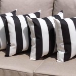Black and White Striped Decorative Pillows