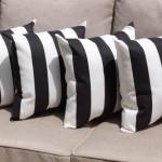Black and White Striped Decorative Pillows
