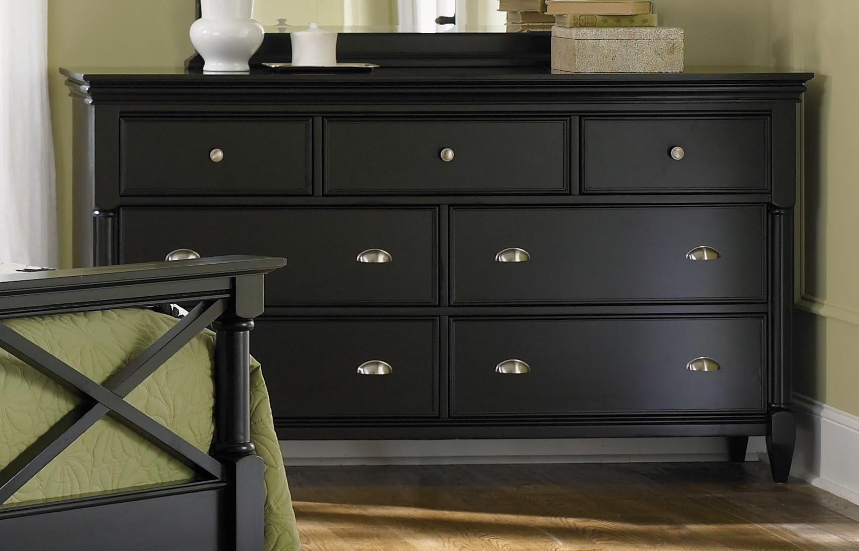 Black Painted Furniture Distressed