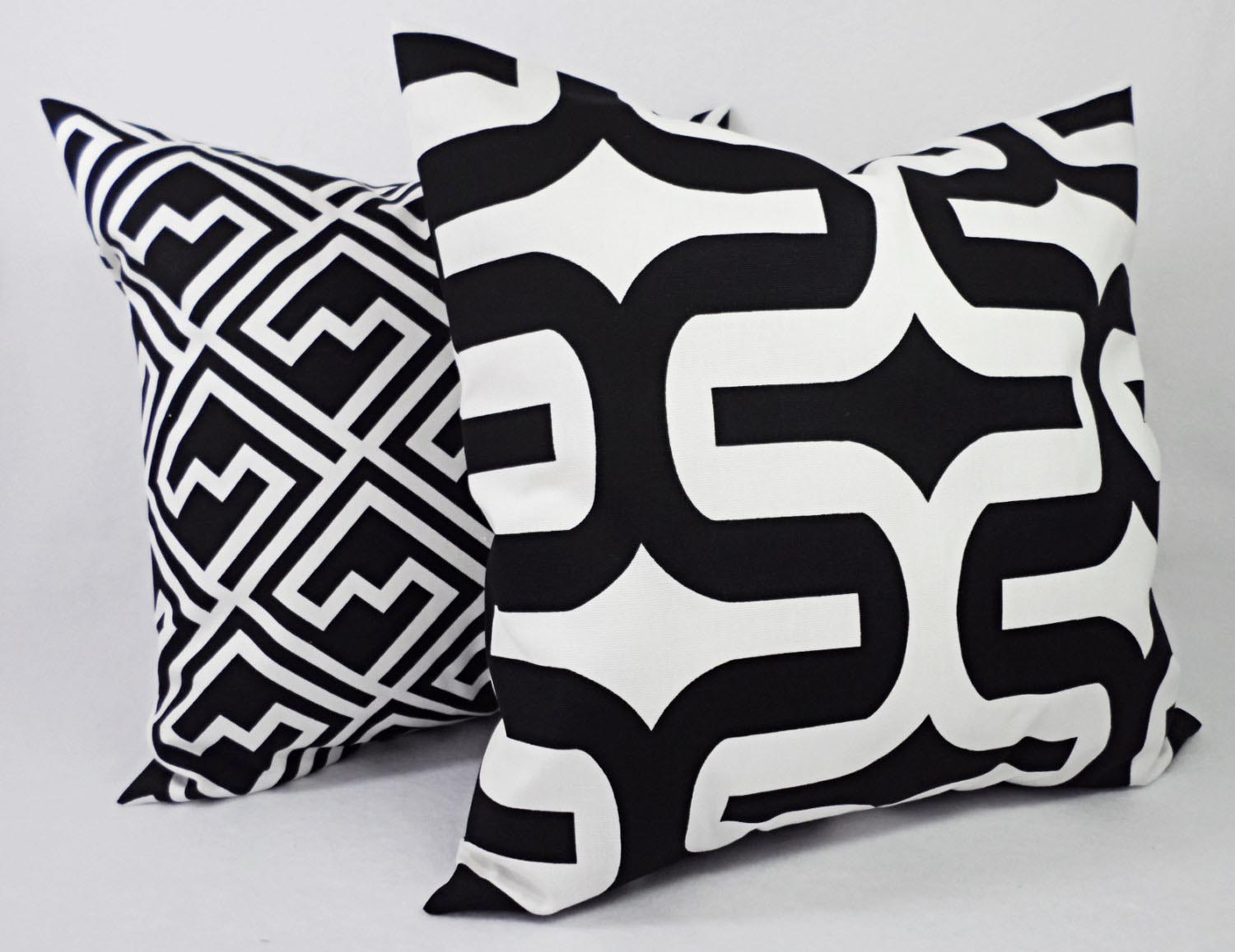 Black White Pillows Decorative