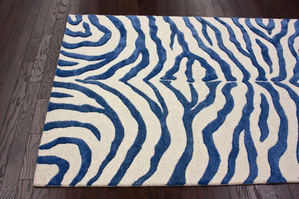 Blue Zebra Print Rug Best Decor Things