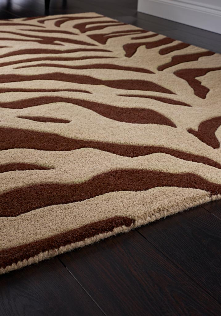 Brown Zebra Print Rug