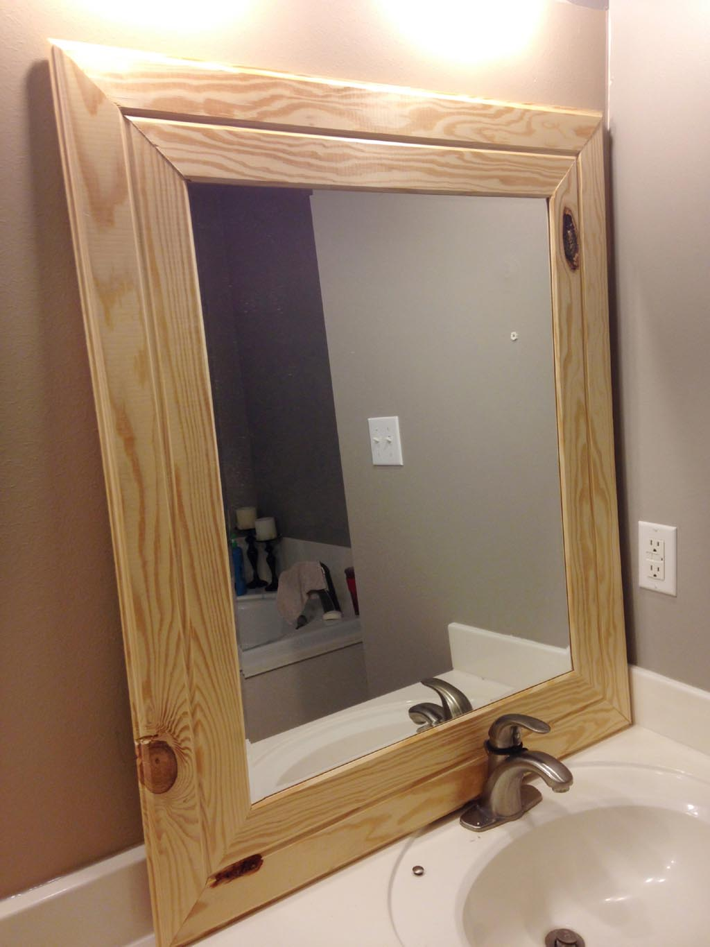 Cheap wood framed mirrors best decor things Frames for bathroom wall mirrors