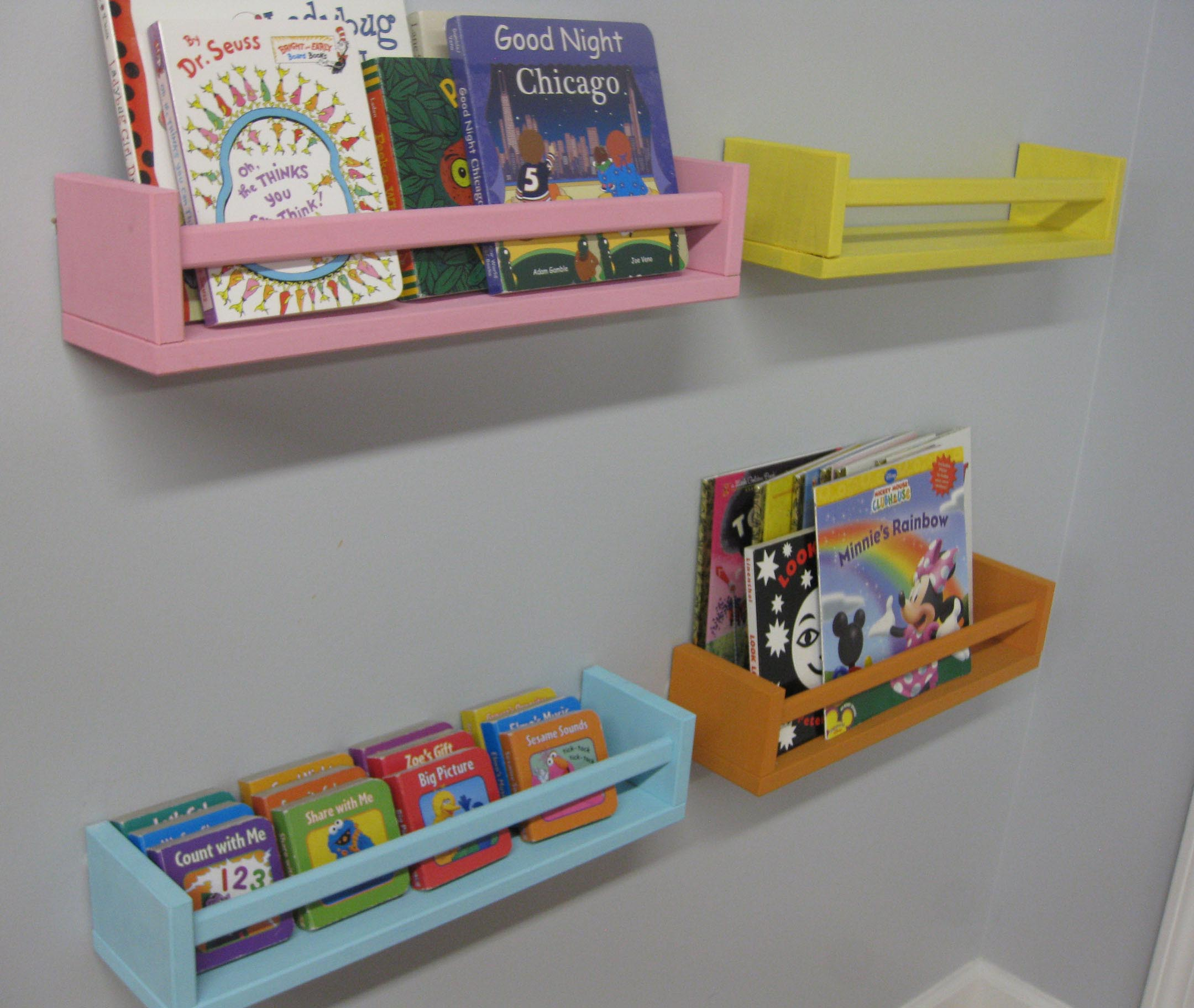 Childrens Wall Book Shelves