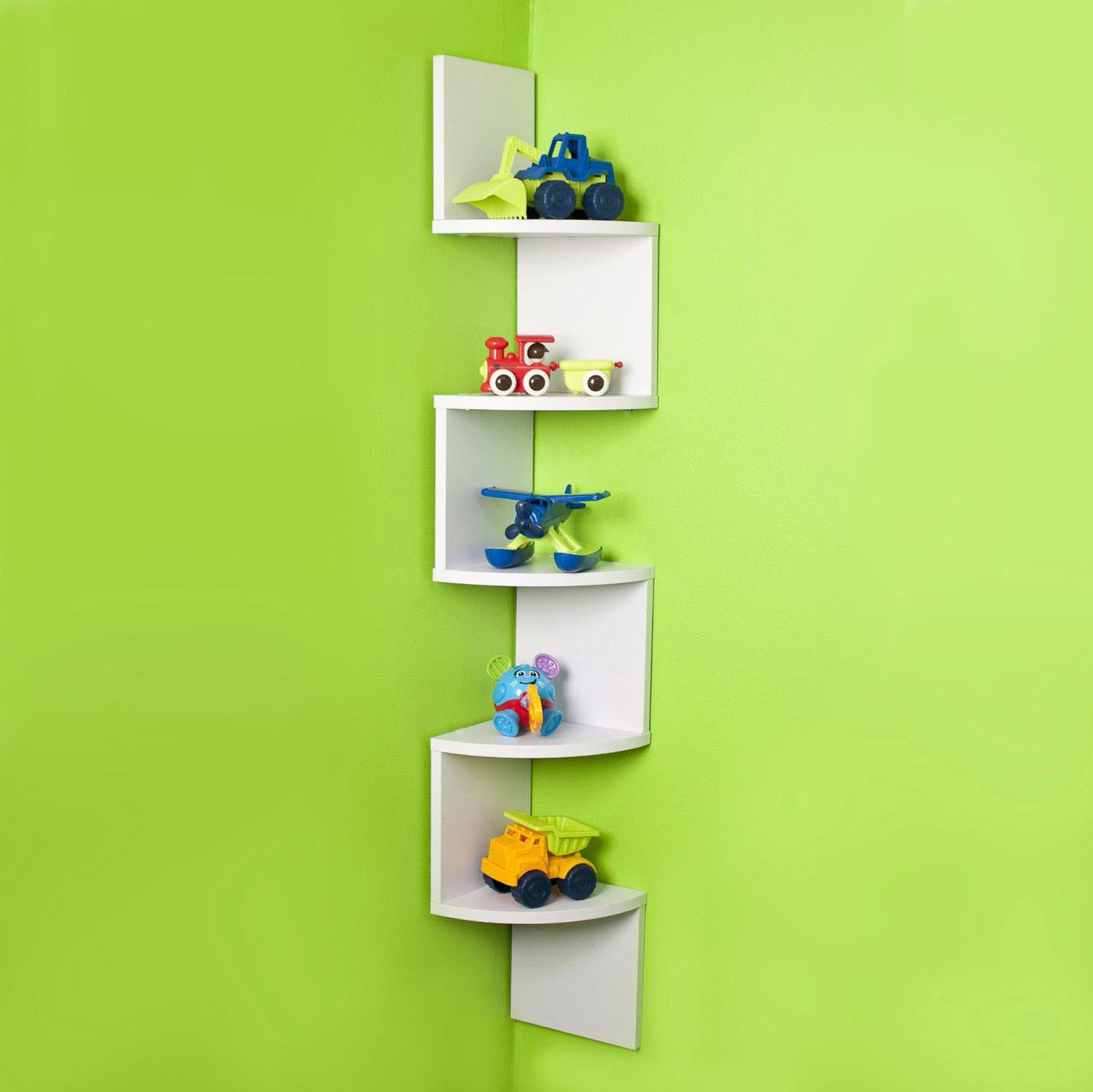 Corner Wall Shelves White