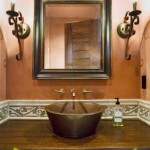 Country Rustic Bathroom Mirrors