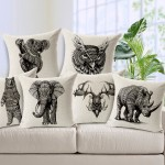 Decorative Pillows Black and White