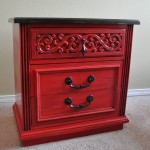 Distressed Red Painted Furniture