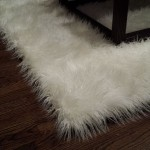 Faux Sheepskin Area Rug White