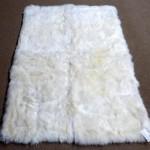 Faux Sheepskin Rug White