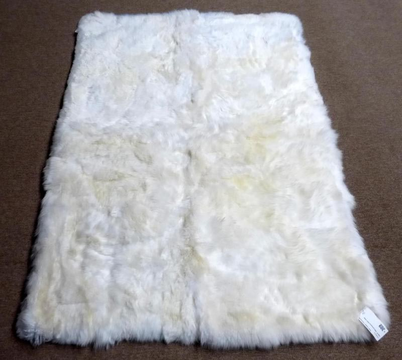 faux sheepskin rug white