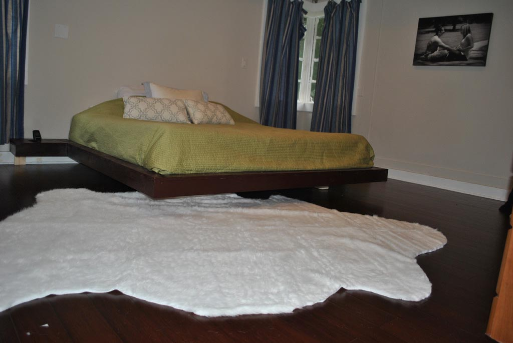 Faux White Sheepskin Rug