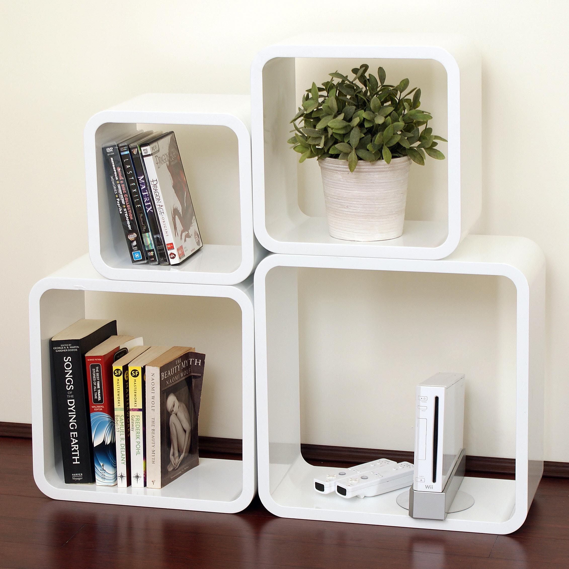 Floating Wall Shelves Decorating Ideas Nice Atmosphere With White Wall Shelves Floating White Wall Shelves