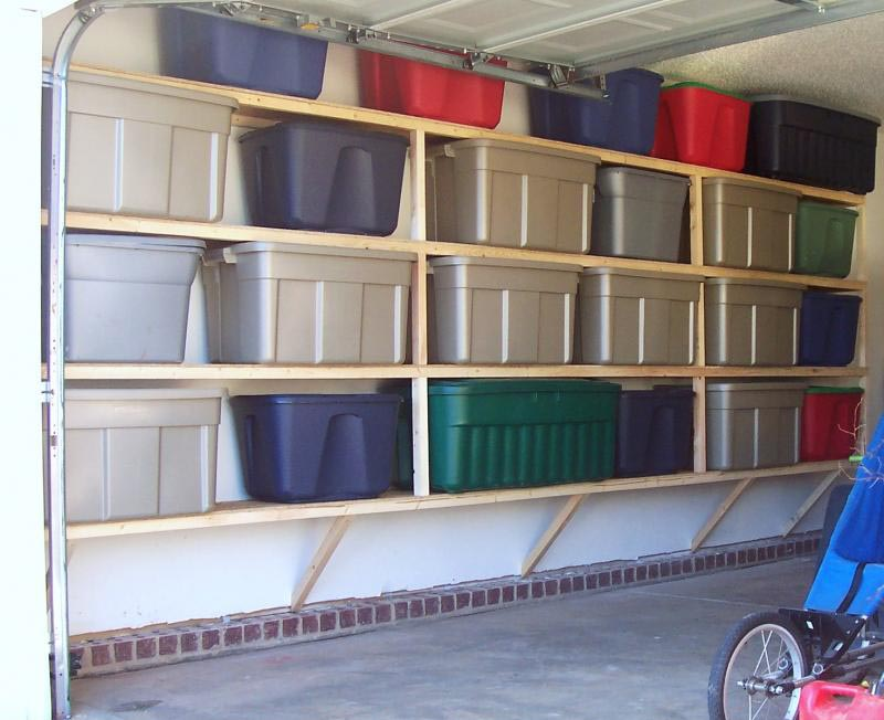 Garage Storage Wall Shelves