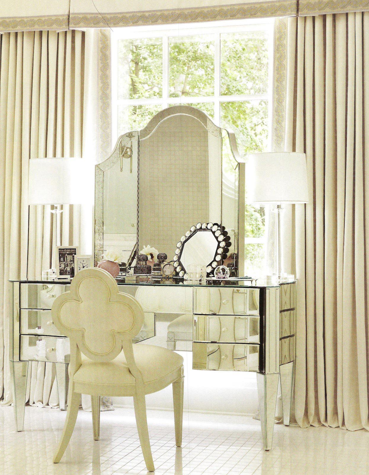 Glass Mirrored Bedroom Furniture