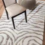 Gray Zebra Print Rug