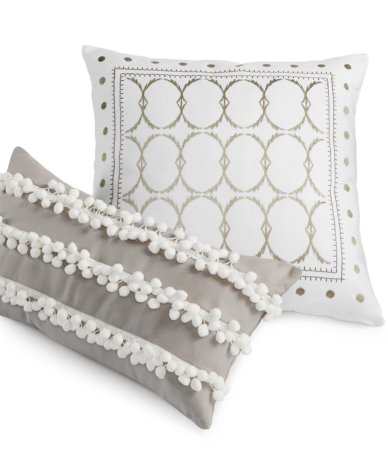 Grey and White Decorative Pillows