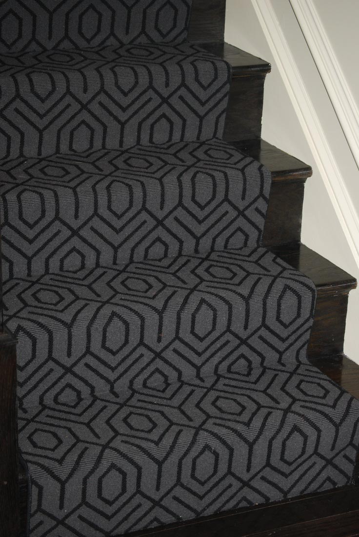 Grey Carpet Stair Treads