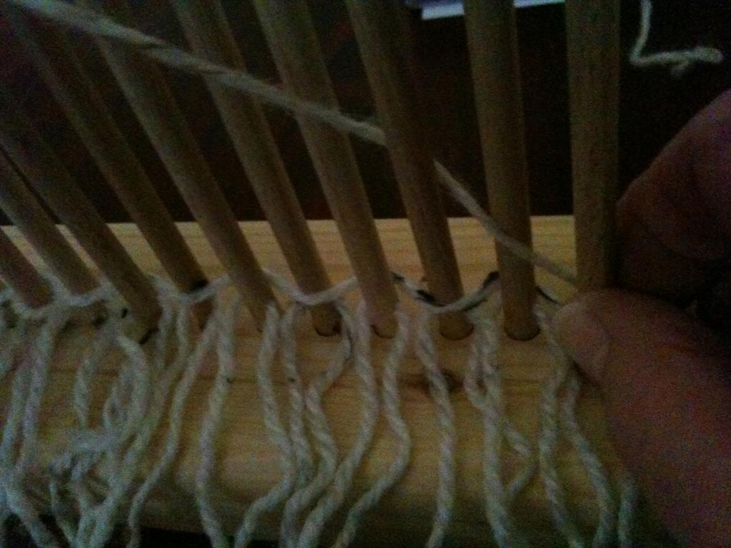 How to Make a Rag Rug Peg Loom