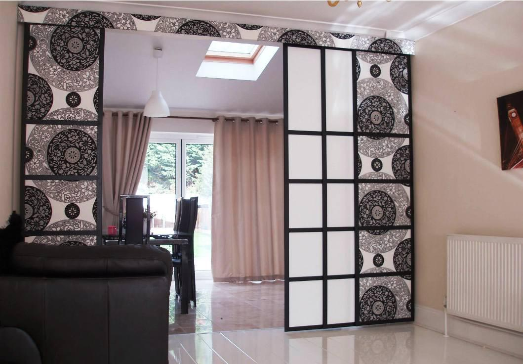How to make curtain room dividers best decor things for Curtain partition living room