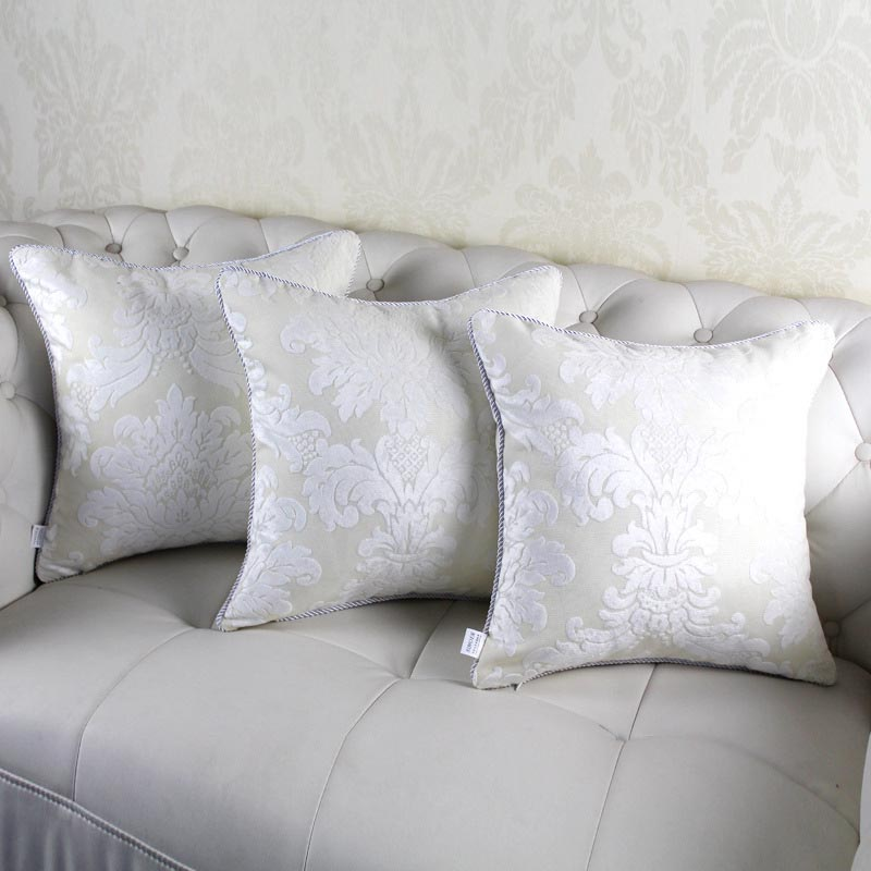 Large White Decorative Pillows
