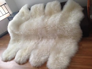 Large White Sheepskin Rug