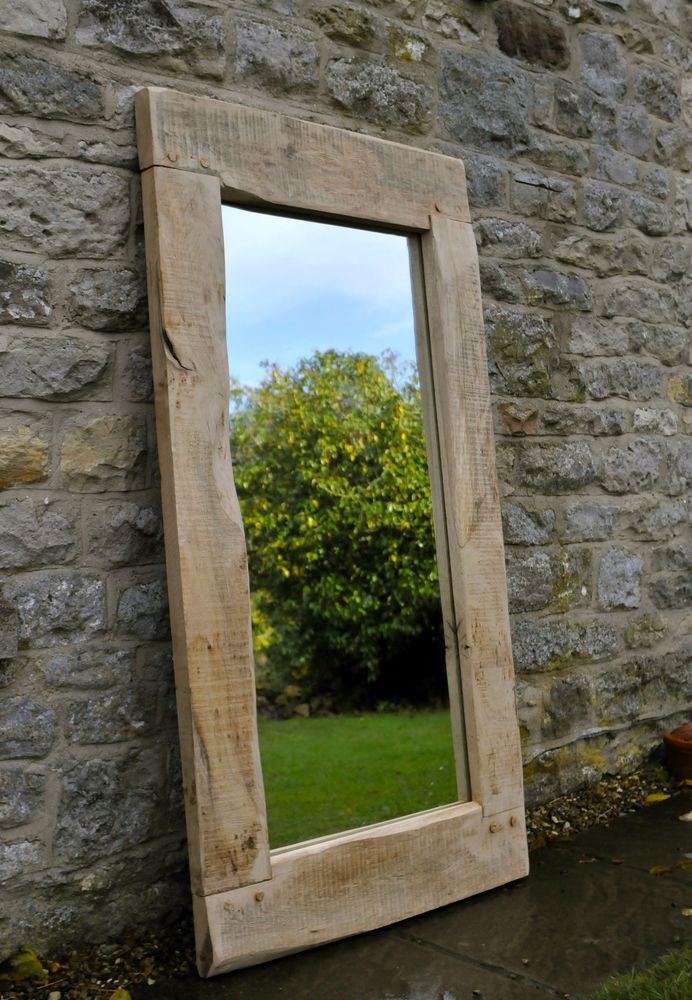 Large wood framed mirrors best decor things for Big framed mirror