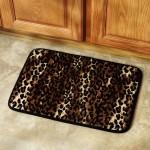 Leopard Print Bath Rug