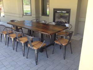 Metal and Wood Garden Furniture