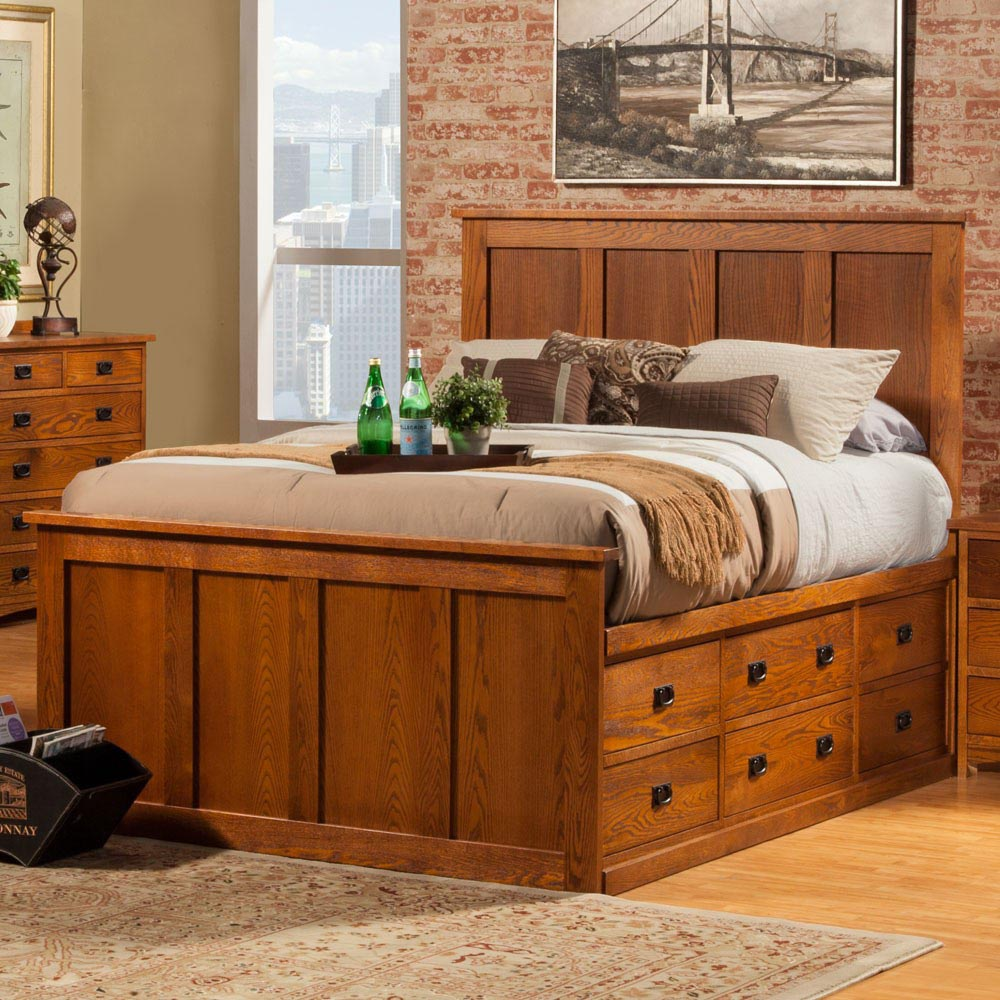 Mission Oak Bedroom Furniture