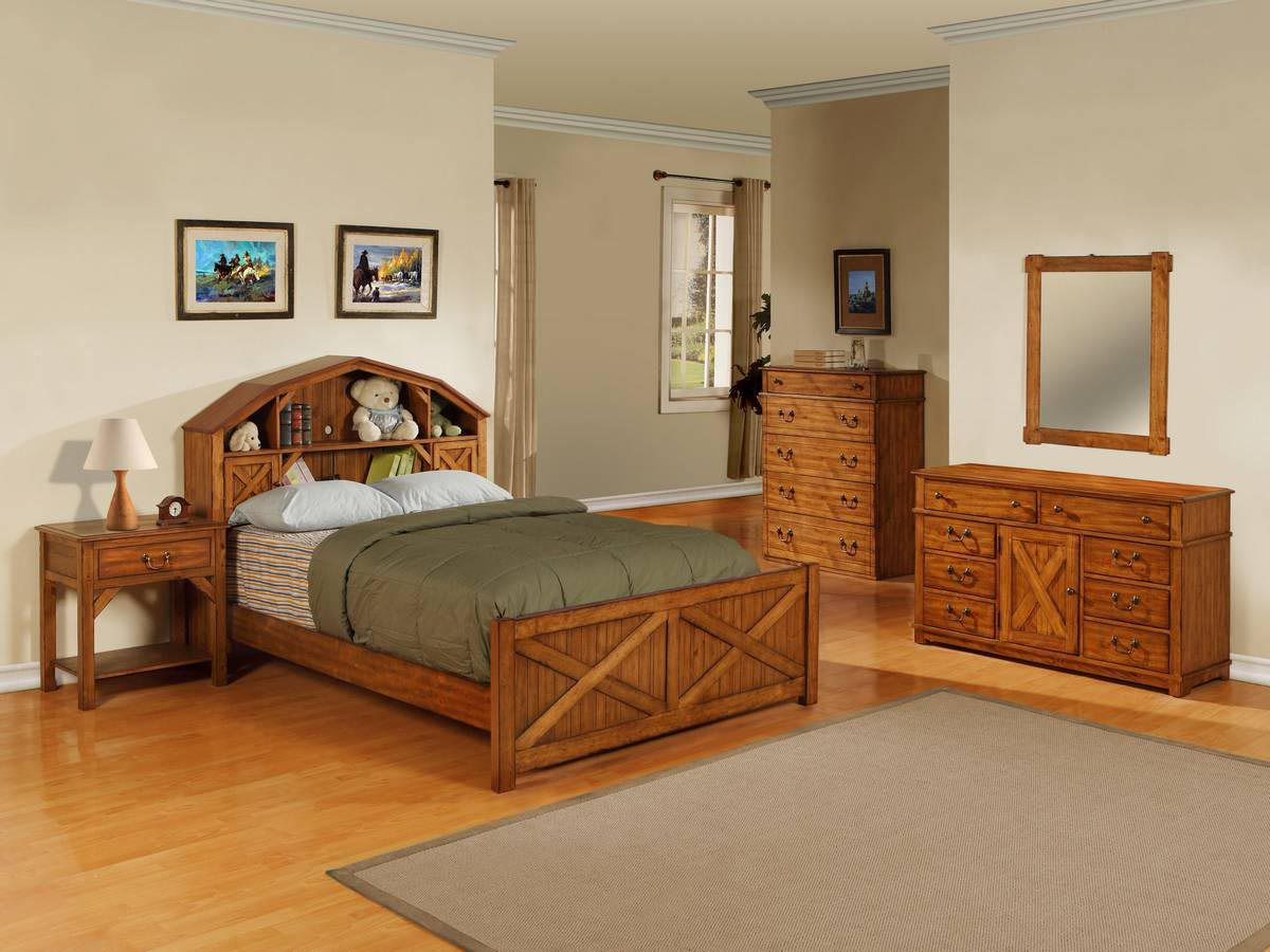 Mission Style Oak Bedroom Furniture