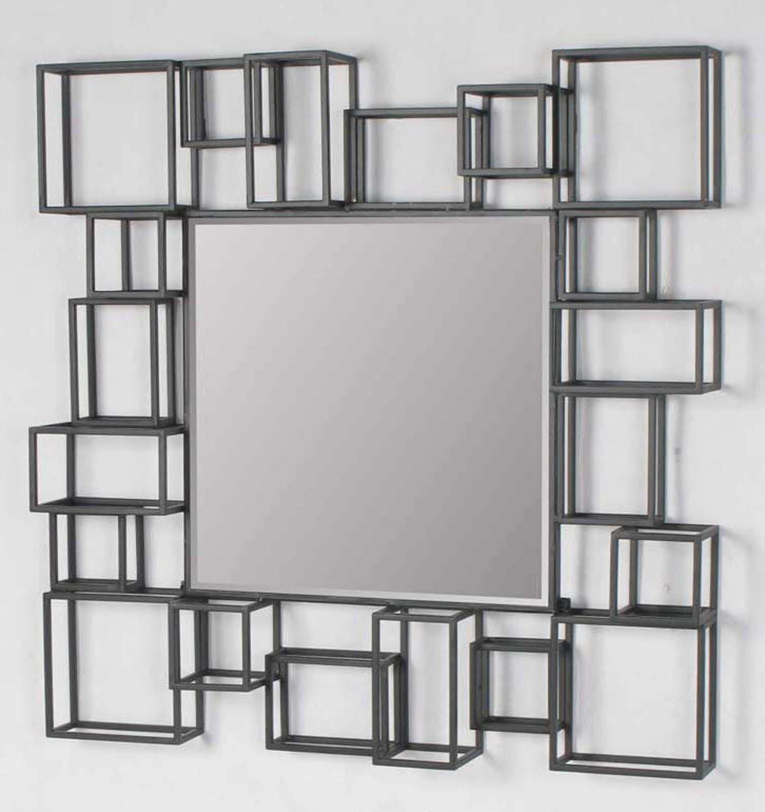 Modern large wall mirrors best decor things for Modern mirrored wall art