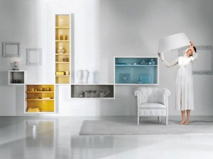 Modern White Wall Shelves