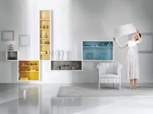 Modern White Wall Shelves