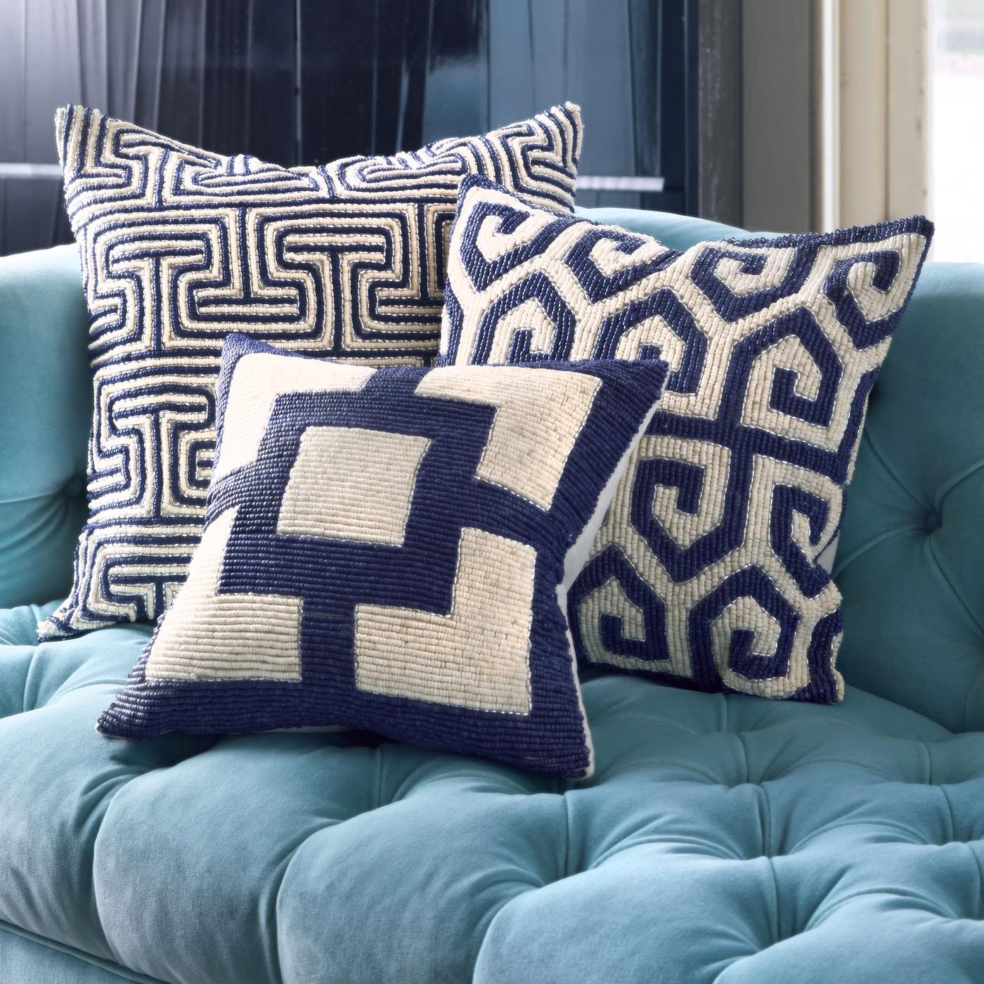 Navy and White Decorative Pillows
