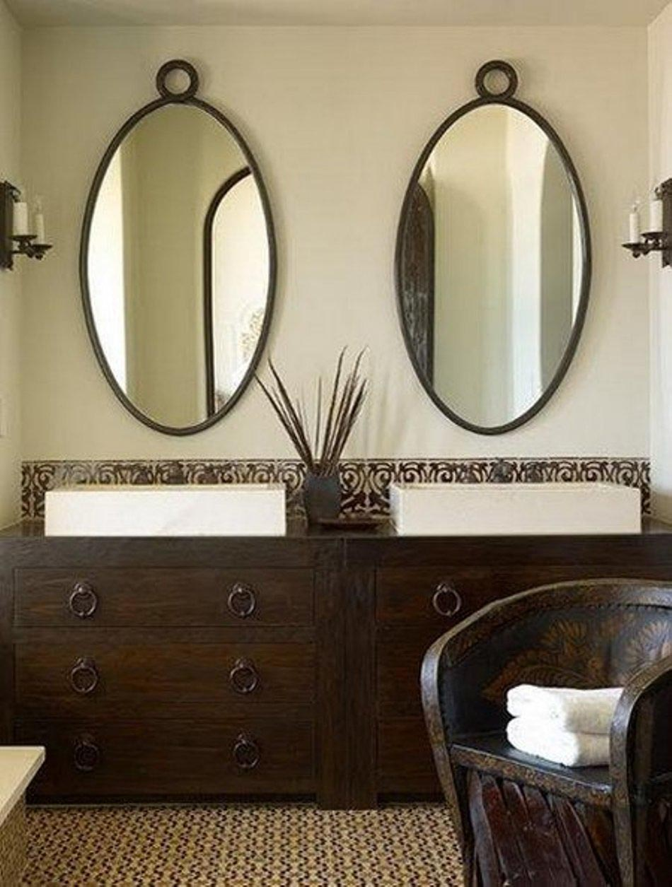 Oval shaped bathroom mirrors best decor things for Mirror on mirror decorating for bathroom