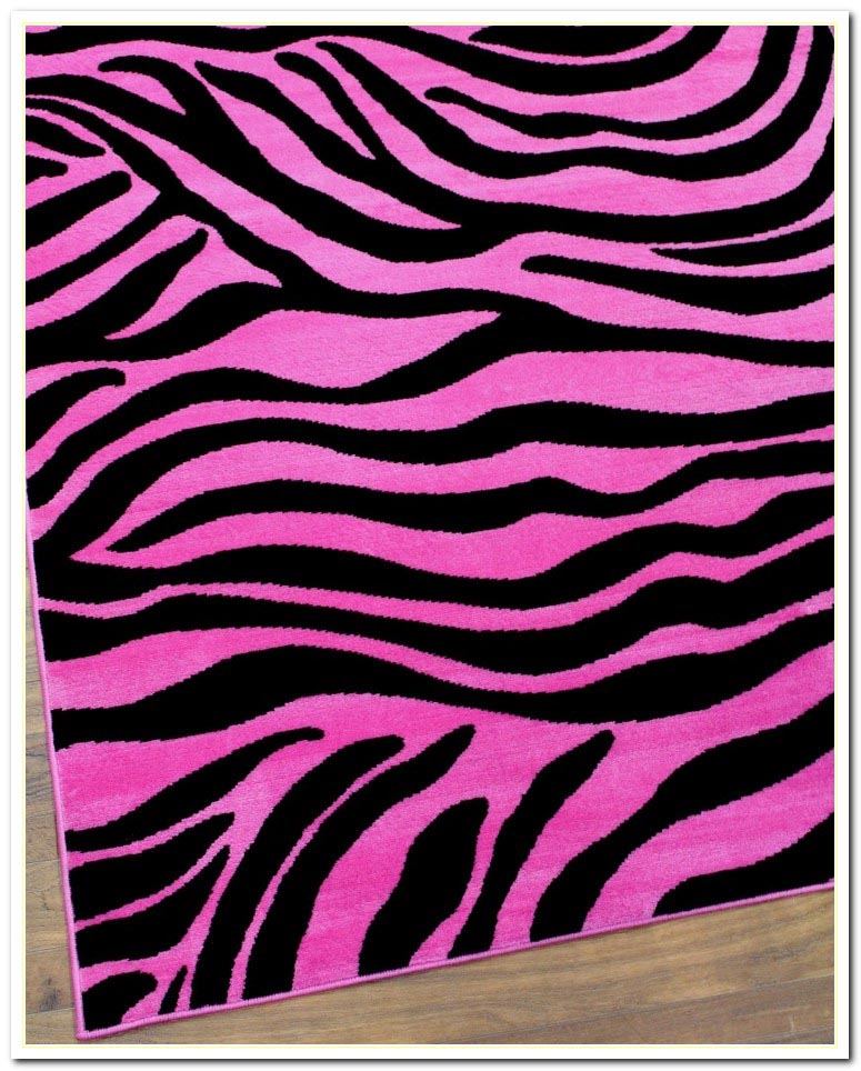 Pink zebra print rug best decor things for Decoration zebre