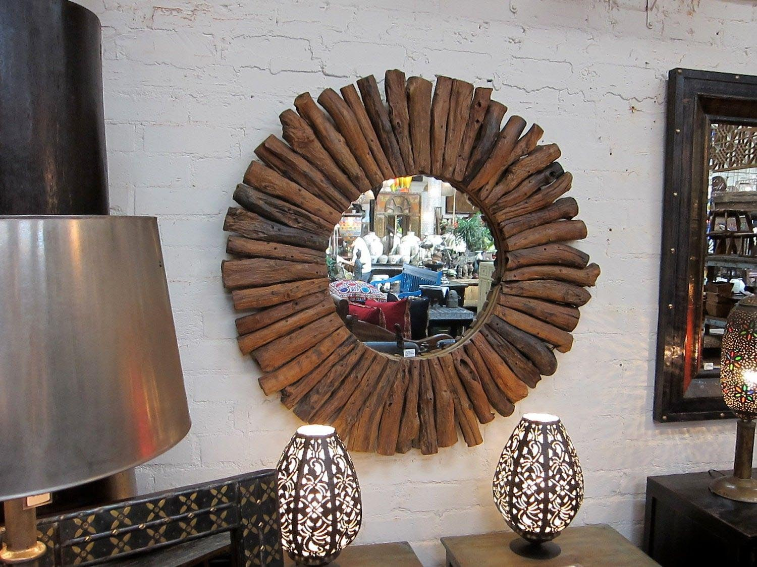 Round Wood Framed Mirrors | Best Decor Things