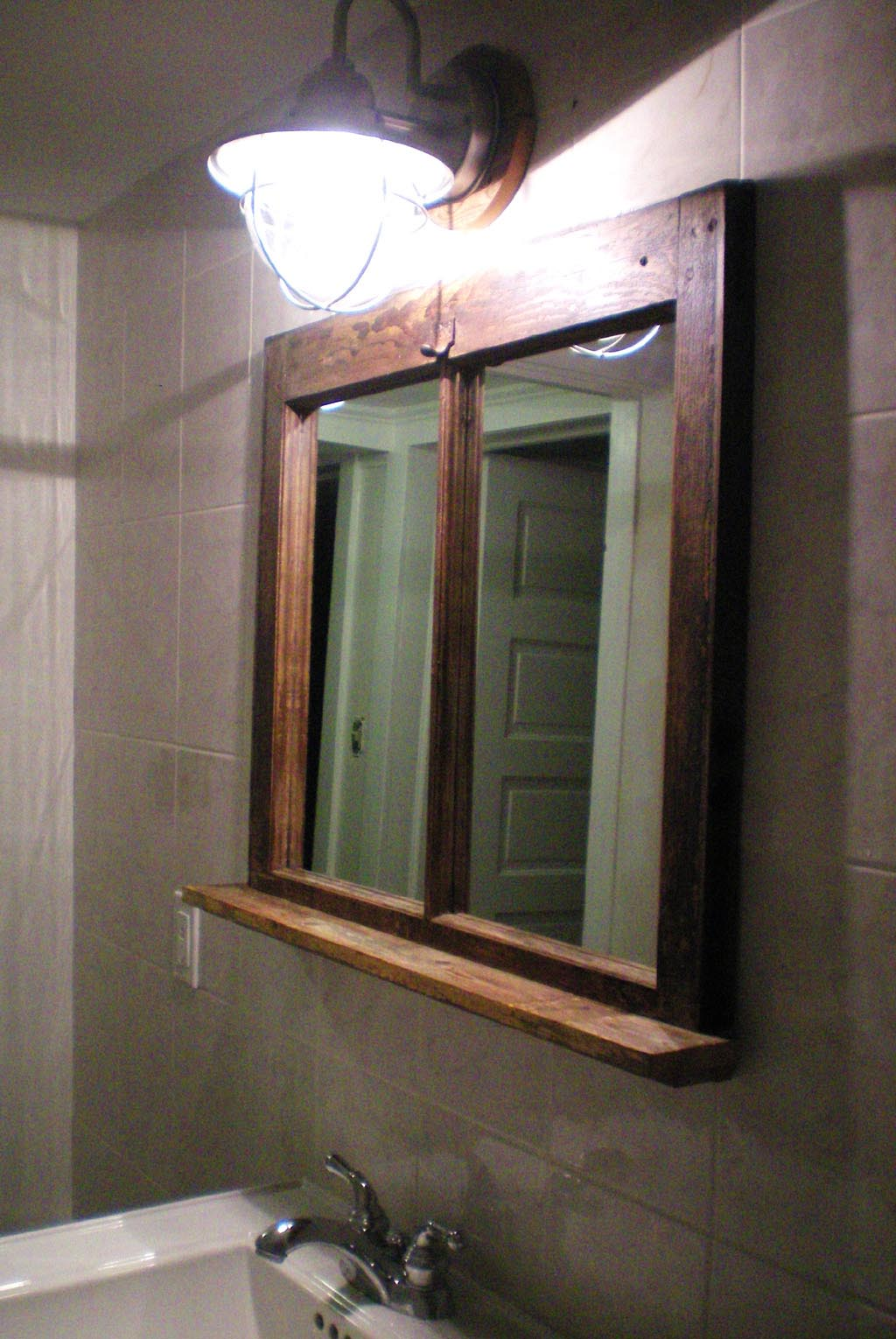 Rustic Bathroom Mirror With Shelf Best Decor Things