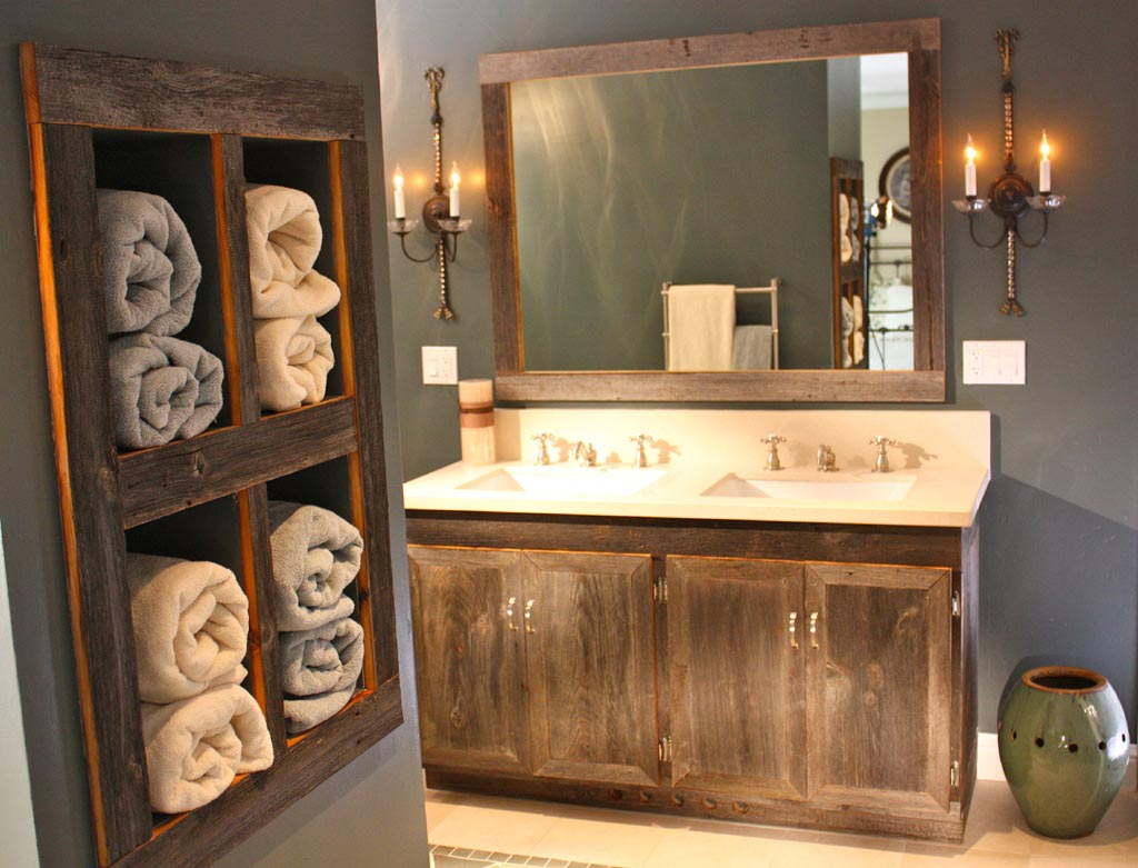 Rustic Bathroom Vanity Mirrors