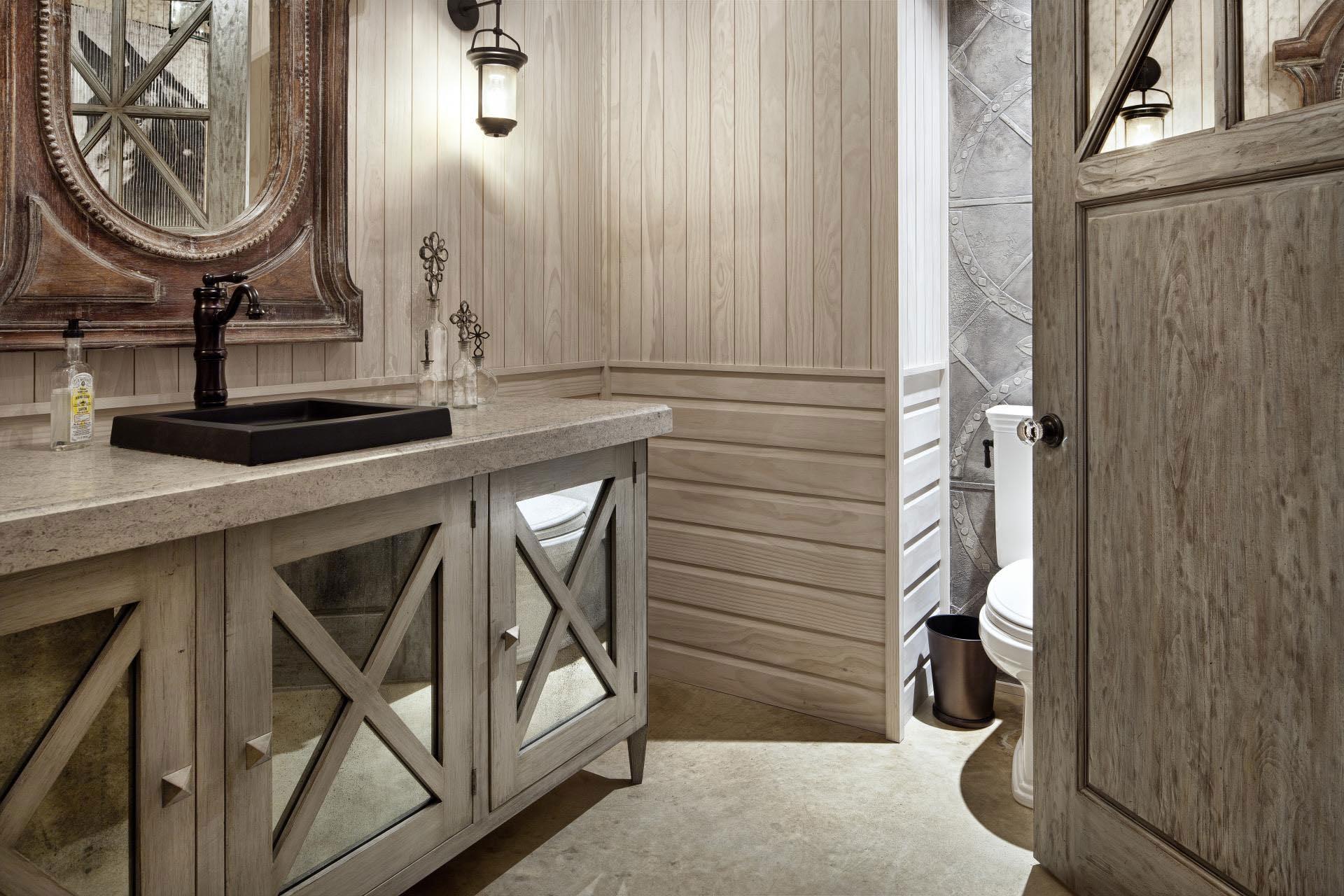 Rustic Vanity Mirrors for Bathroom