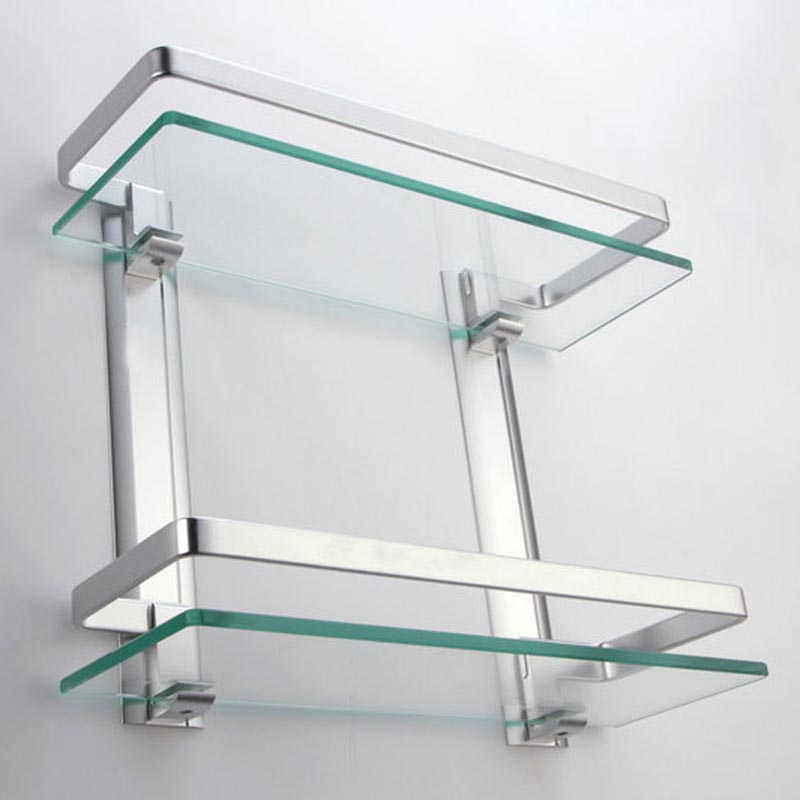 small glass bathroom shelves two small bathroom glass
